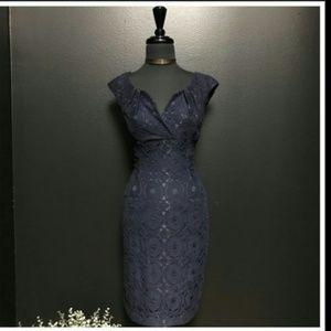CYNTHIA ROWLEY Cotton Lace Midi Party Dress(Sz4)